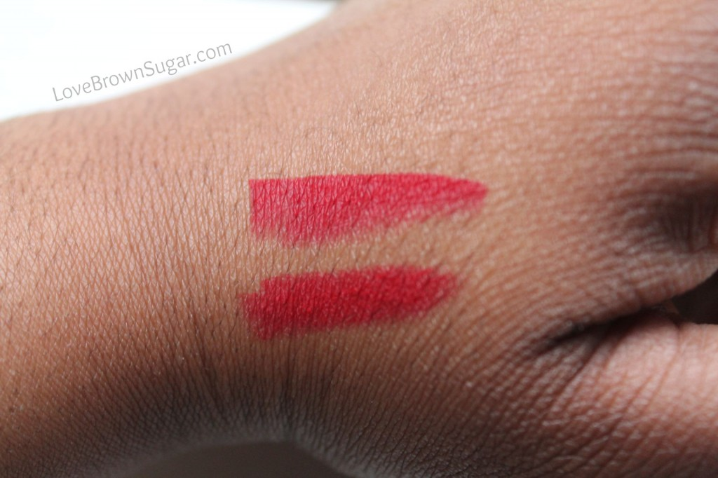 Top: RiRi Woo  Bottom: Ruby Woo