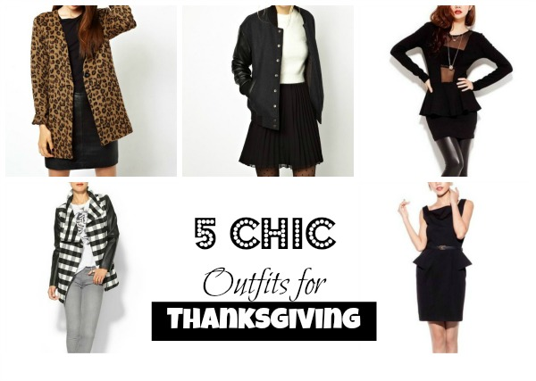 5 Chic Outfits Thanksgiving Collage