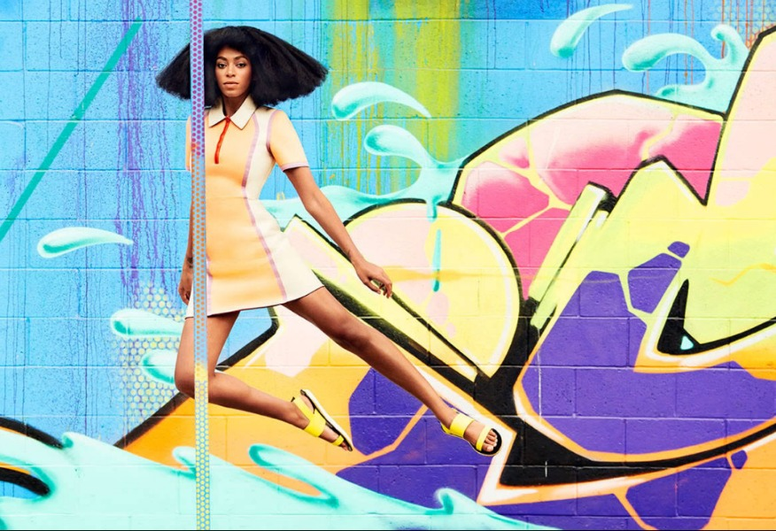 Solange-Knowles-Harpers-Bazaar-Yellow-Dress-Moshino