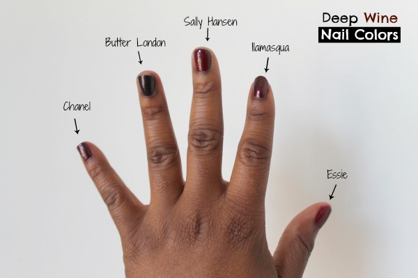 Deep Red Nail Colors Brown Skin