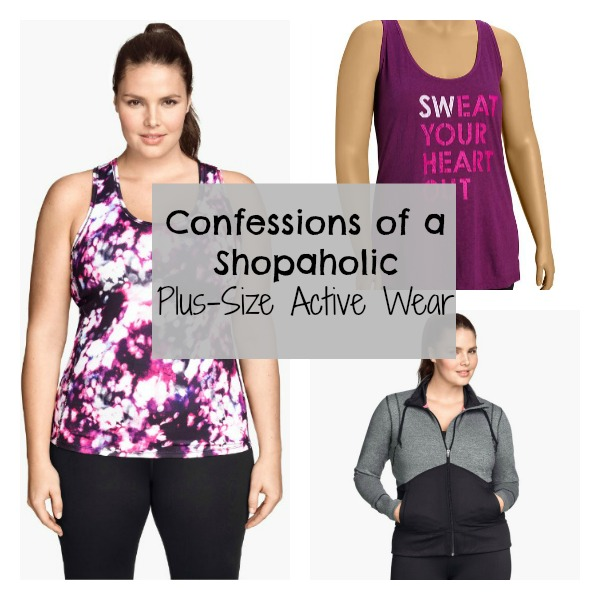 Plus Size Active Wear Collage with text