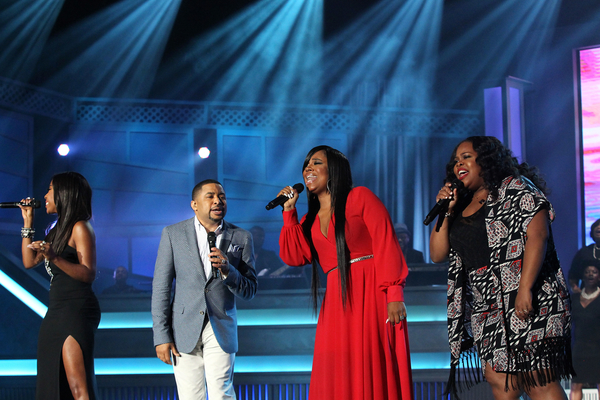 Sevyn Streets, Smokie Norful, Shanice Wilson, and Amber Riley perform at the the 12th Annual McDonald's 365 Black Awards at the Ernest Moral Convention Center in New Orleans, LA on Friday, July 3, 2015.